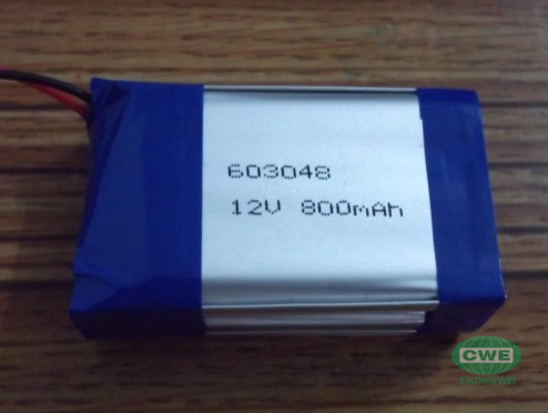 12v 800mah lipo battery pack
